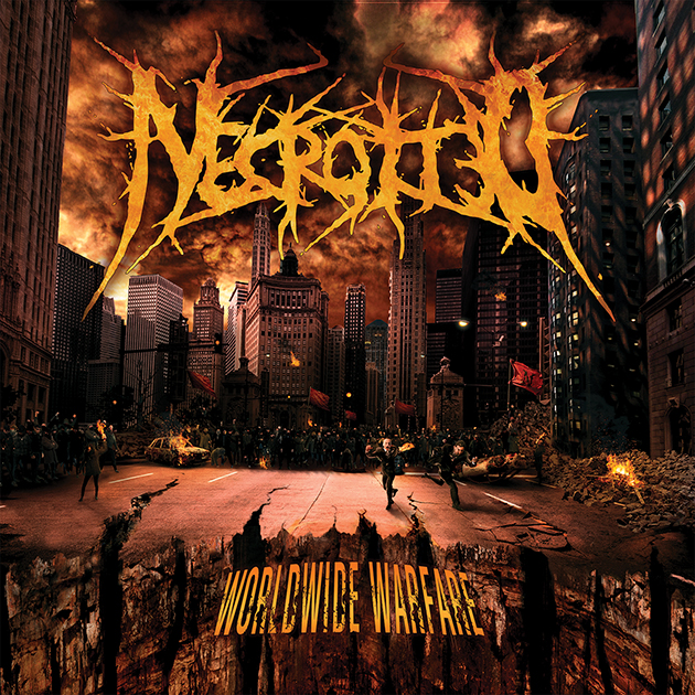 Necrotted - Worldwide Warfare (Albumcover)